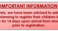 Important Information Effective immediately, we have been advised to ask all new arrivals to Canada-who are planning to register their children in Burnaby Schools-to self-isolate for 14 days upon arrival from […]